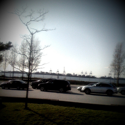 A beautiful evening at the ferry terminal